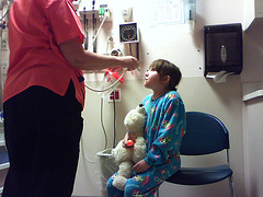 Child getting allergy treatments for article on toxic chemicals - flickr