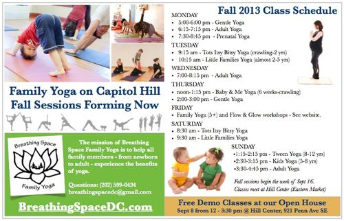 Fall 2013 Yoga Classes - Capitol Hill